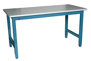 industrial workbench with light