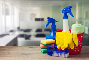 how to clean solid surface countertops